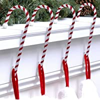 Candy Cane Stocking Holder - 4 Pack