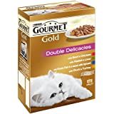 Purina Gourmet Gold Double Delicacies Cat Food 12 x 85 g (Pack of 8)