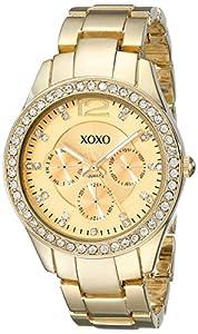 XOXO Women's XO5475 Rhinestone-Accented Gold-Tone Bracelet Watch