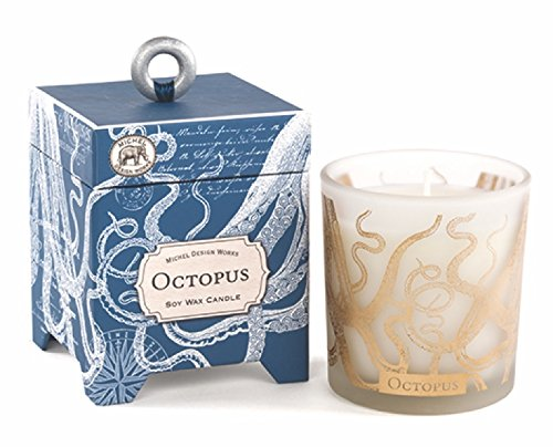 Boxed Soy Wax Candle, 6.5-Ounce, Octopus