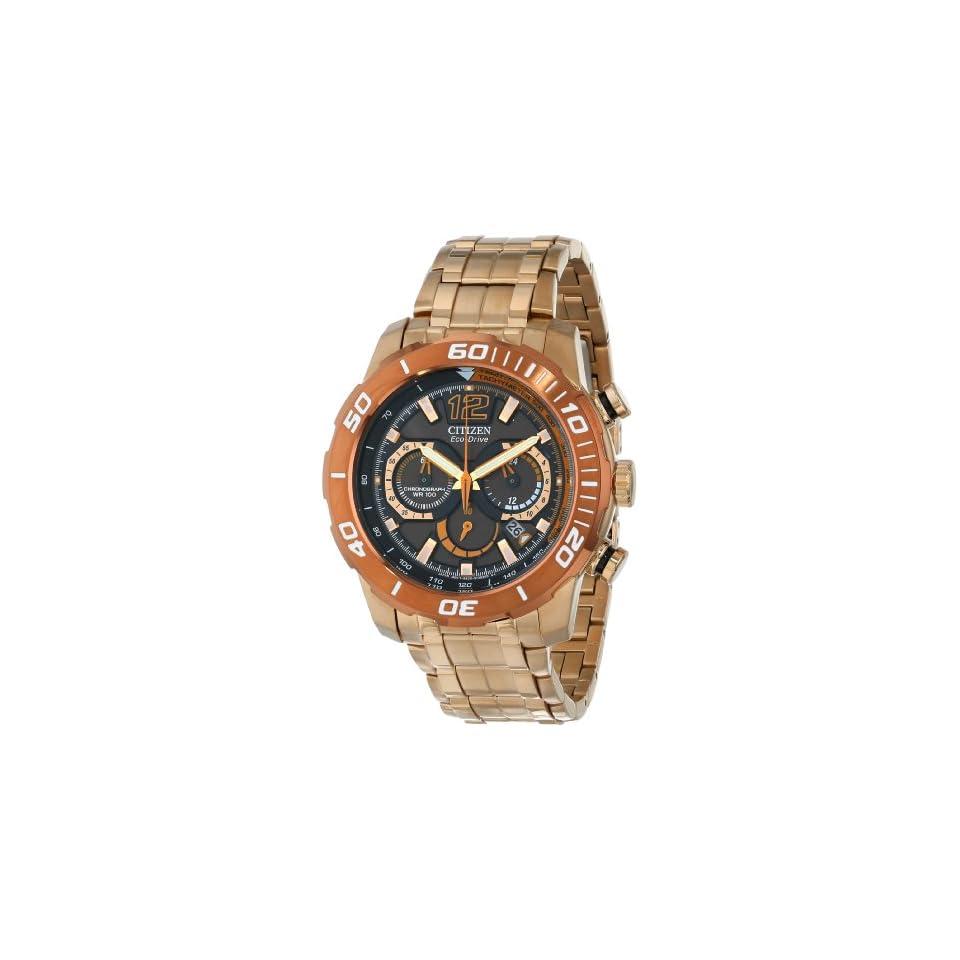 Citizen Eco Drive Mens Primo Stingray 620 Analog Display Rose Gold Watch (Model CA4086 56E)