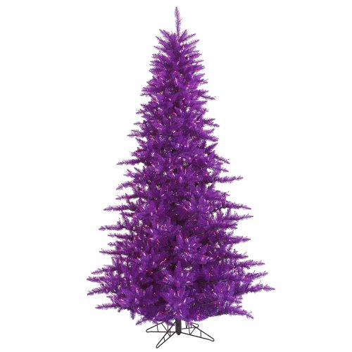 Vickerman 3' Purple Fir Artificial Christmas Tree with 100 Purple Lights