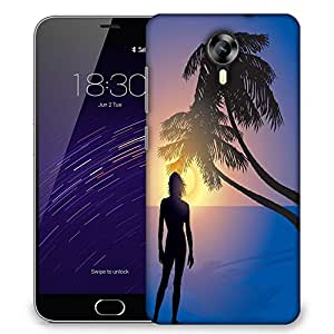 Snoogg tropical sunrise Designer Protective Back Case Cover For Meizu M2