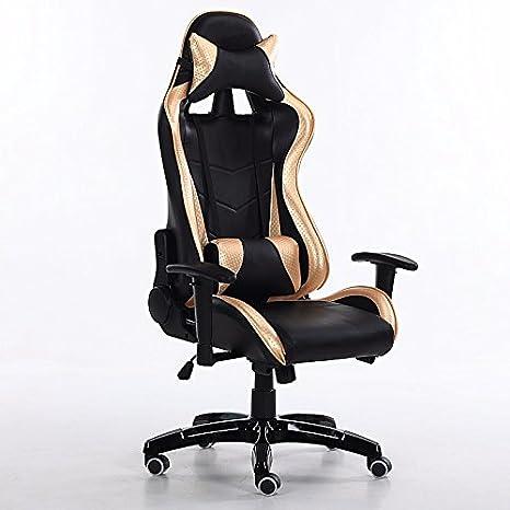 Sedia elettrica archetto ergonomico sedia computer,nero e giallo