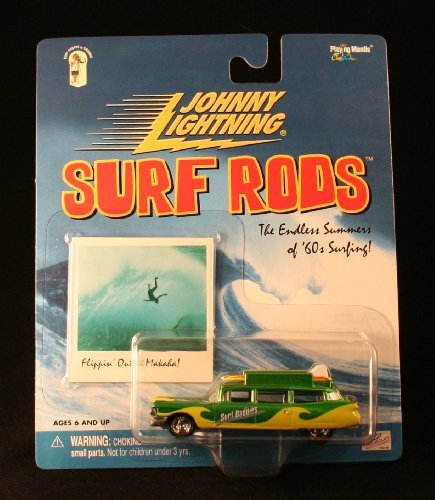 SURF DADDIES * GREEN * Johnny Lightning 2000 SURF RODS Release One 1:64 Scale Die Cast Vehicle
