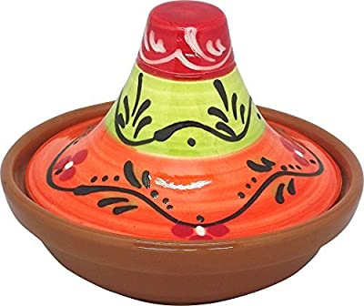 Reston Lloyd Eurita Terra Cotta Mini Tagine, 91704, 1/2 Cup Sauce/Side Dish, Valencia Pattern, Set of 2 by Reston Lloyd