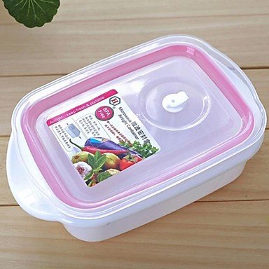 Mofy- Plastic Microwave Ovens Preservation Lunch Box Set Of 2 18.5X12X7Cm
