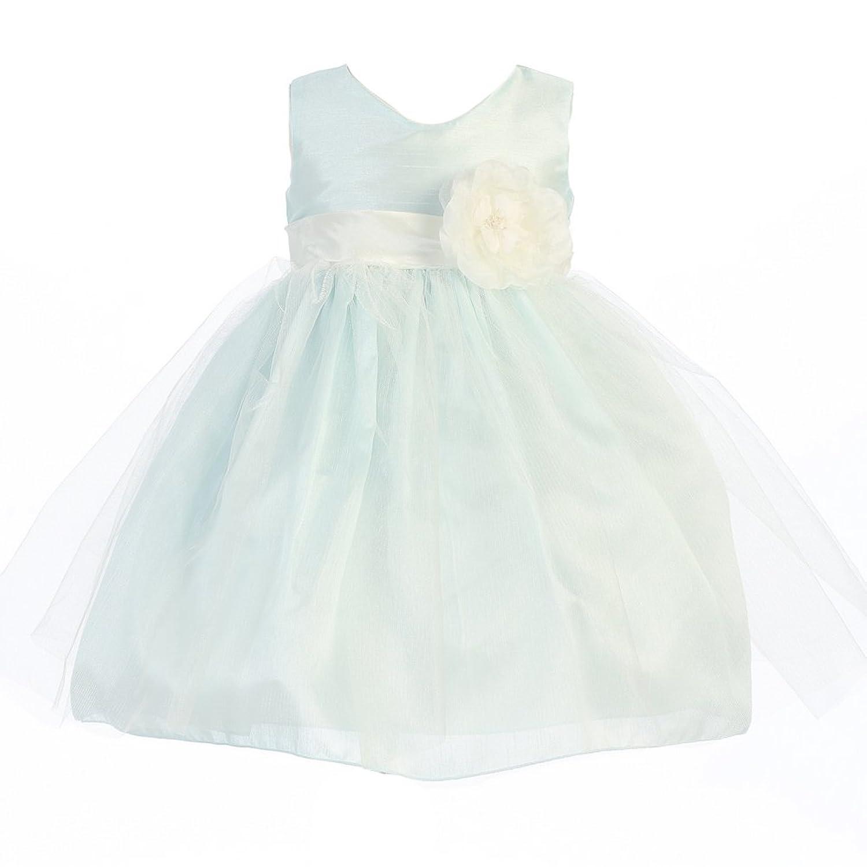 Lito Baby Girls Blue Shantung Tulle Overlay Flower Girl Easter Dress 6-24M 6 24m baby autumn