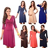 Gorgeous Maternity And Pregnancy Dress Vneck 4400 Variety of Colours