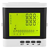 Electric Power Meter, Multi-Function Three-Phase Programmable Electric Power Meter Digital LED Ammeter Voltmeter for Three-Phase Voltage Current Measuring