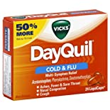 Vicks DayQuil Cold & Flu, Multi-Symptom Relief, LiquiCaps, 24 ct.