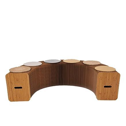 Brown kraft carta sgabello tavolo sgabello casa spazio spazio sgabello (stuoia regalo casuale)
