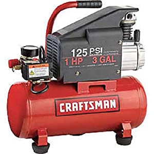 Craftsman 3 gal. Air Compressor, 1 hp, Tank