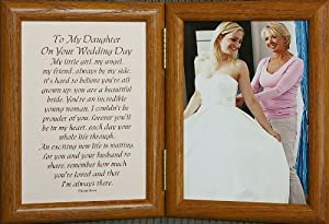 ... DAUGHTER ON YOUR WEDDING DAY Poem Frame Gift for BRIDE from MOTHER