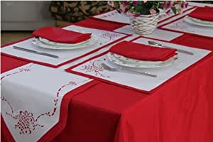 table and christmas  runner runners linen bedding kitchen table linens napkins