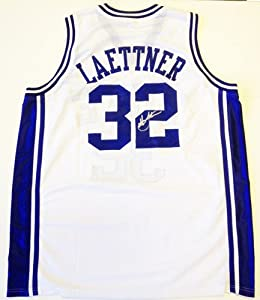 Christian Laettner Signed Duke Blue Devils Jersey White