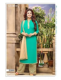 Mega Wholesale Bazaar Faux Georgette With Mirror Work Party Wear Unstitched Salwar Kameez - 2008
