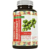 Pure Green Coffee Bean Extract - Natural Weight Loss Supplement for Women & Men - Burn Fat + Curb Appetite - Antioxidant Rich - Boosts Metabolism - 800mg - 60 Capsules - By California Products