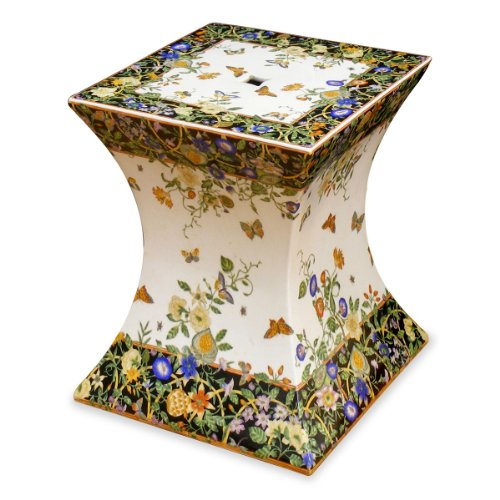 Porcelain-Garden-Stool-Flower-Butterfly