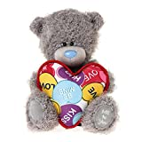 Me To You 6-inch Tatty Teddy Bear Holding a Love Heart Shaped Cushion (Grey)