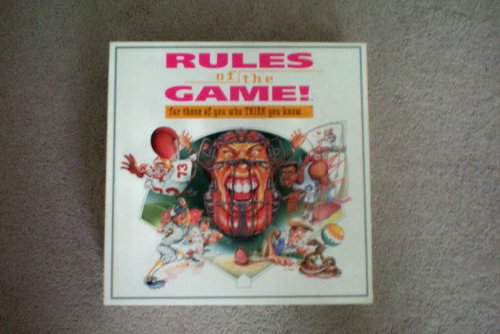 Rules of the Game! for those of you who THINK you know....Sports Board Game - 1