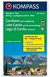 Gardasee und Umgebung - Lake Garda and its surroundings - Lago di Garda e dintorni: Wanderkarten-Set mit Radrouten und Panorama. GPS-genau. 1:35000 (KOMPASS-Wanderkarten)