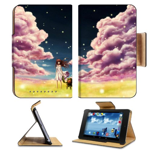 Girl In The Field With Companion Google Nexus 7 Flip Case Stand Magnetic Cover Open Ports Customized Made To Order Support Ready Premium Deluxe Pu Leather 7 7/8 Inch (200Mm) X 5 Inch (127Mm) X 11/16 Inch (17Mm) Liil Nexus 7 Professional Nexus7 Cases Nexus front-117537