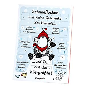 Sheepworld Adventskalender Schneeflocke, 1-er Pack (1 x 75 g)