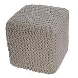 Homescapes Sitzhocker Sitzwürfel natur weiß 35 x 35 x 35