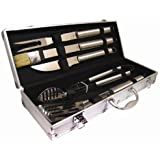 DELUXE Stainless Steel BBQ Cooking TOOL UTENSIL SET - Complete With Luxury Presentation Case.,
