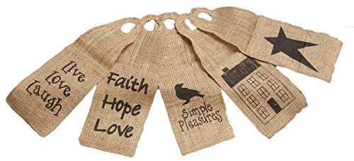 Your Hearts Delight Various Designs Burlap Door Hanger Set, 5 by 15-Inch