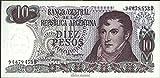 billetes para coleccionistas: Argentina Pick-No.: 300 unc 1976 10 Pesos