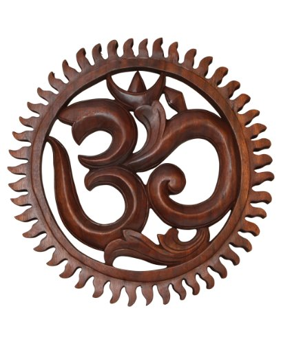 Om Wall Hanging, Hand Carved, 16