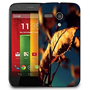 Snoogg Autumn Leaves Case Cover For Motorola G / Moto G