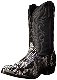 Laredo Men\'s 68067 Monty Western Boot,Black / White,9.5 XW US