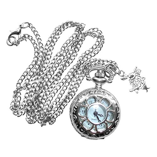 Umbrellalaboratory Alice in Wonderland Tea Party Pocket Watch Necklace Pw2