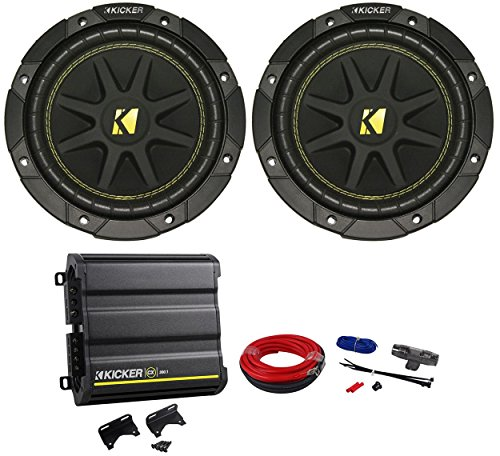 Package: 2)Kicker Comp Series 10C8-4 Ohm Car Subwoofers Totaling 400W + Kicker Cx300.1 600W Peak/300W Rms Mono Block Class D Car Amplifier + Kicker 09Dpk8 8 Gauge D-Series Power/Ground Car Amp Wiring Install Kit + 1 Year Extended Warranty