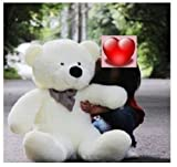 Giant 100cm BIG Cute White Plush Teddy Bear Huge 39
