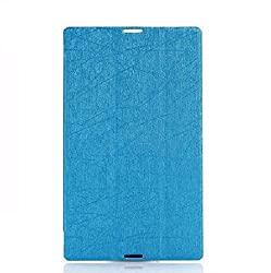 SPL Ultra-Thin Folding Folio Transparent PC Back Artificial Leather Book Cover + { Free Screen Guard } For Lenovo S8 Tab S8-50f 8