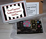 Traditional Liquorice Sweet Box - Personalised Gift Box With Liquorice Wands Spogs Wheels Black Jacks