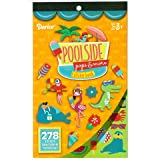 2 BOOKS of - POOLSIDE Pops & More - Mini STICKERS (556 total stickers) POOL Fun SUMMER Treats ICE Cream Kid's ACTIVITY Craft Party FAVORS -Scrapbooking PARTY PROJECT