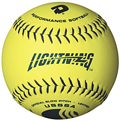 DeMarini Lightning USSSA Women's Classis W Series Slowpitch Synthetic Leather Softball (12-Pack), 11-Inch, Optic Yellow (Womens Slow Pitch Softballs compare prices)