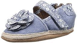 Robeez Jourdan Espadrille Soft Sole Crib Shoe (Infant), Chambray, 18-24 Months M US