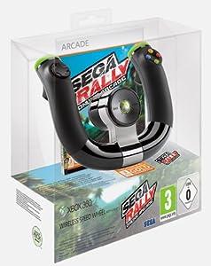 Volant sans fil + sega rally online arcade + carte xbox live gold 3 mois