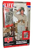 GI Joe Year 2002 LIFE Historical Edition 12 Inch Tall Soldier Action Figure Set - The Naval Battle of GUADALCANAL with Soldier Figure, Miniature LIFE Magazine, Reising 55 Submachine Gun, 30 Round Magazine Pouch, Miniature LIFE Magazine Cover,