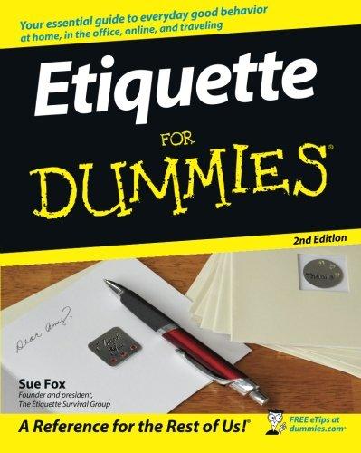 Etiquette For Dummies front-1011513