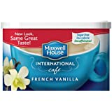 Maxwell House International Coffee Decaf Sugar Free French Vanilla Cafe 4 Ounce Cans  Pack of 4