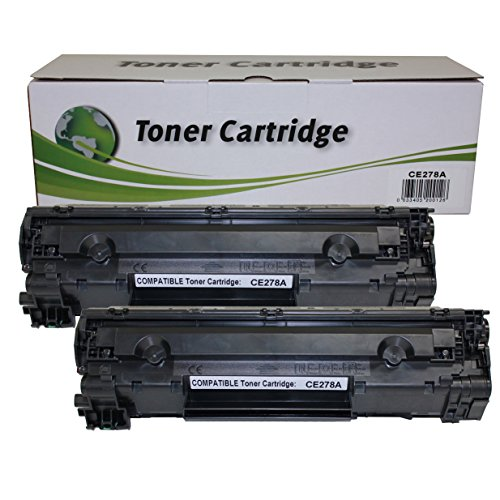 Hi Ink 2 PackCompatible HP 78A (CE278A) Black Toner Cartridge for LaserJet Pro M1536DNF, P1566, P1600, P1606DN