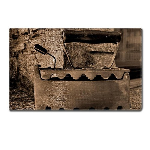 Old Retro Iron Antique Sepia Table Mats Customized Made To Order Support Ready 24 Inch (610Mm) X 14 15/16 Inch (380Mm) X 1/8 Inch (4Mm) High Quality Eco Friendly Cloth With Neoprene Rubber Msd Deskmat Desktop Mousepad Laptop Mousepads Comfortable Computer front-582235