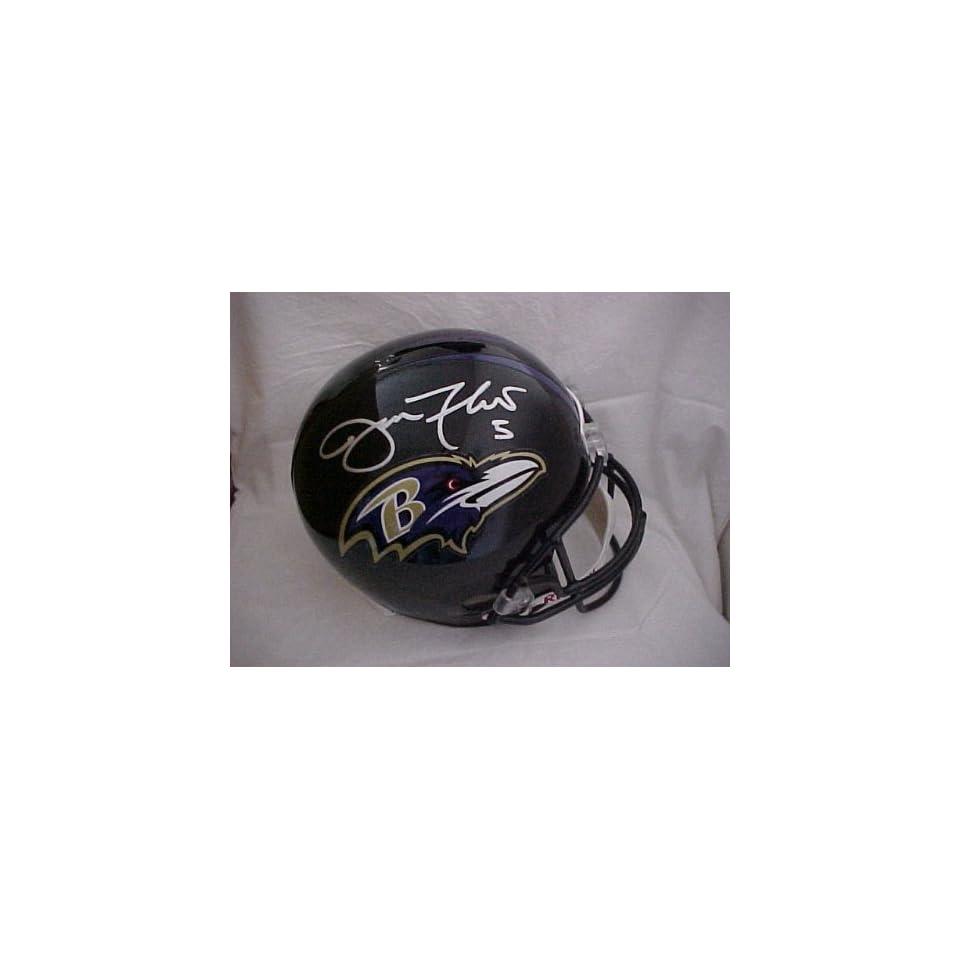 Joe Flacco Hand Signed Autographed Full Size Baltimore Ravens Riddell Proline